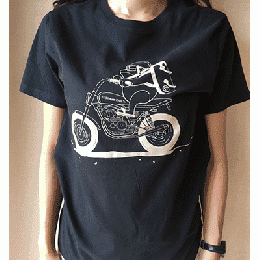 Dave Motorcycle Black T Shirts