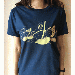 Dave Windsurfing Navy T Shirts
