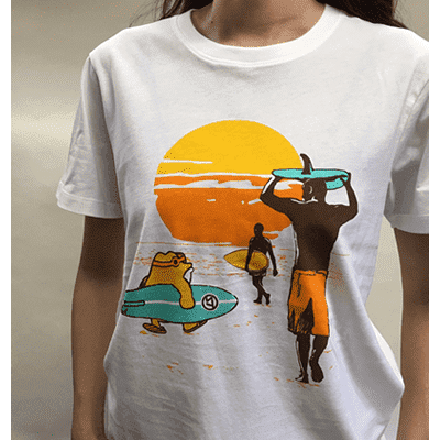 SURF SUMMER WHITE T-Shirts